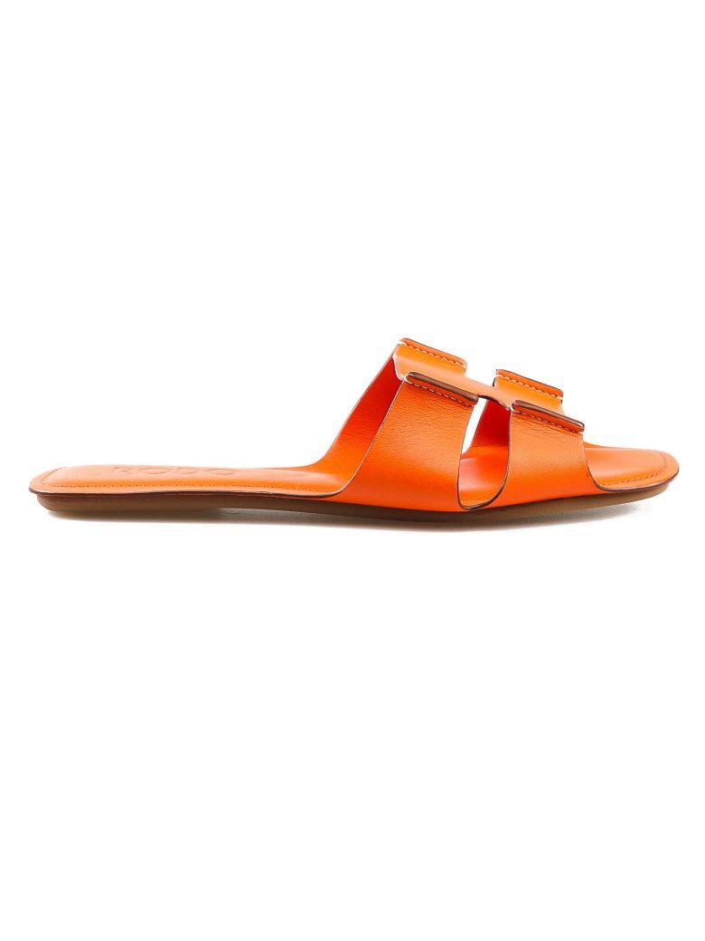 Rodo Classic Flat Sandals - Arancio