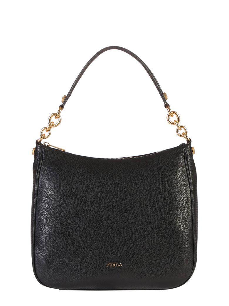 Furla Cometa Hobo Bag - Black
