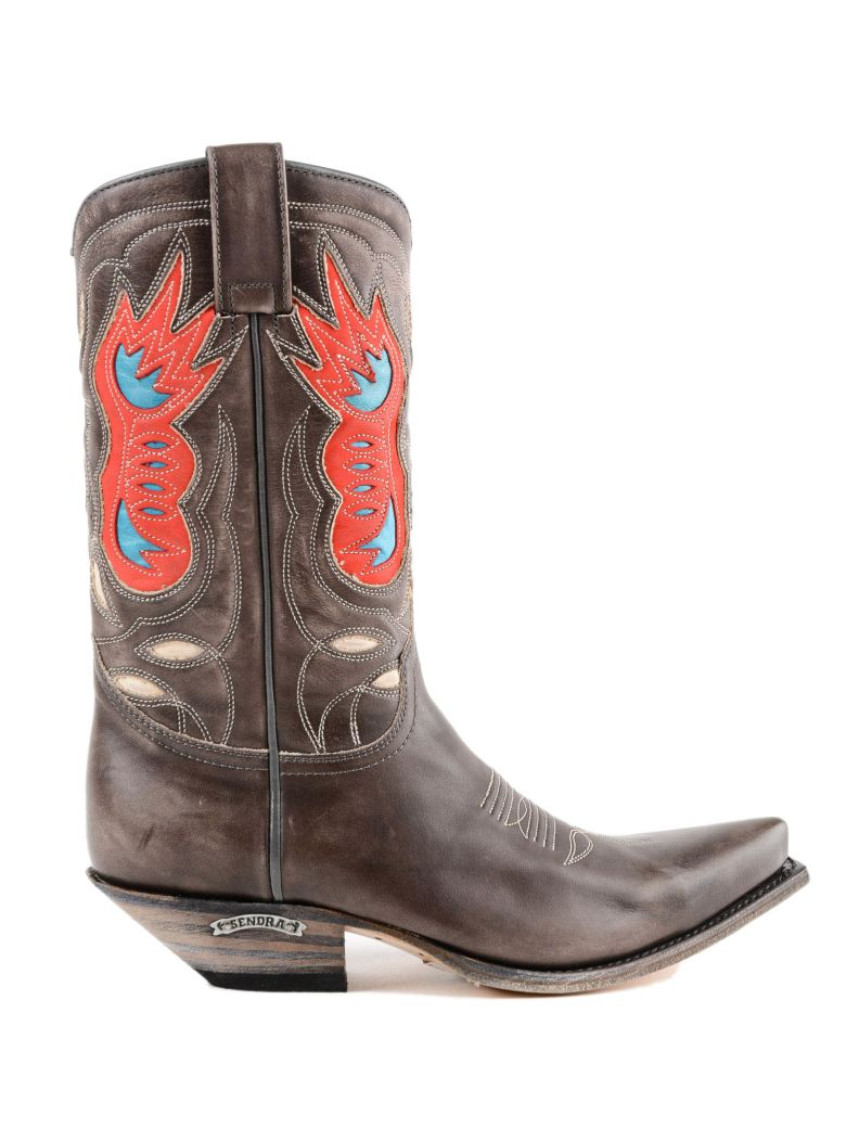 Sendra Texan Ankle Boots - Antracite