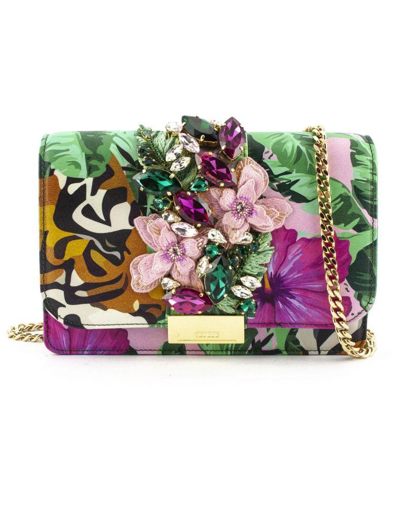 Gedebe Clutch Cliky Tiger Flower - Fiori Verde