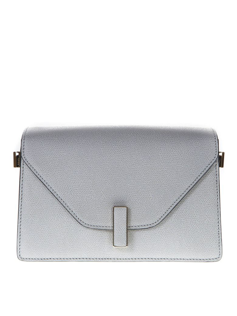 Valextra Light Gray Twist Lock Shoulder Bag In Leather - Light grey