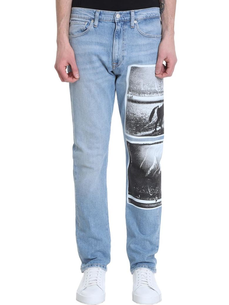 Calvin Klein 035 Straight Blue Denim Jeans - Basic