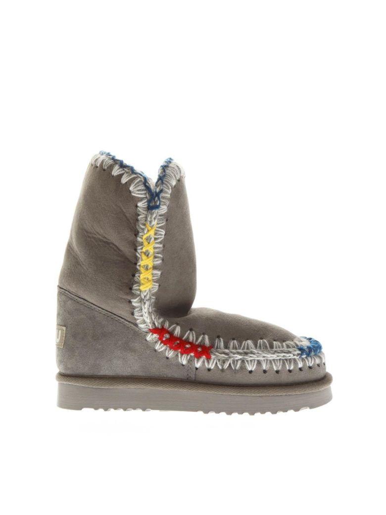 Mou Gray Eskimo Shearling Boots - Gray