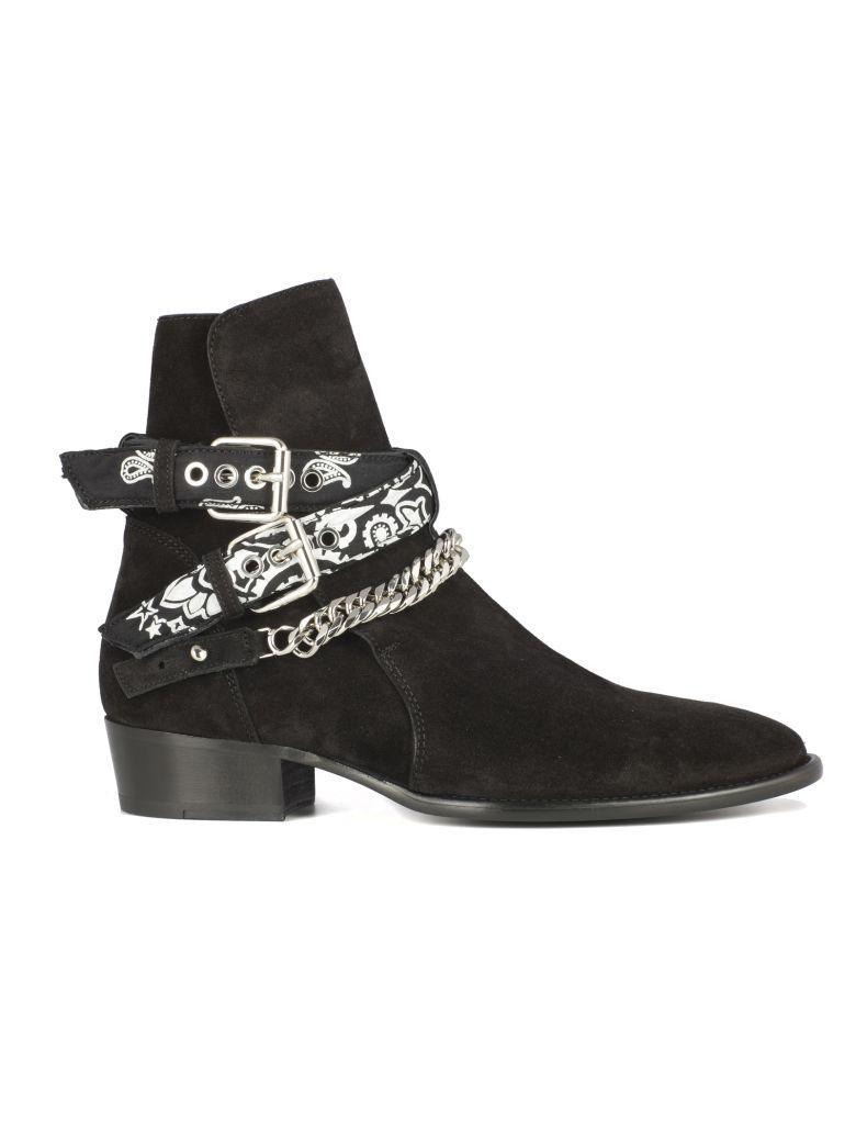 Amiri Amiri Bandana Buckle Boots Black 10834812 Italist