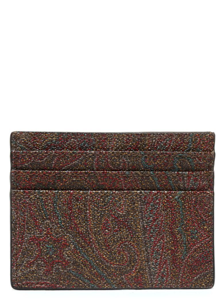 Etro 'paisley Classic' Cardholder - Marrone