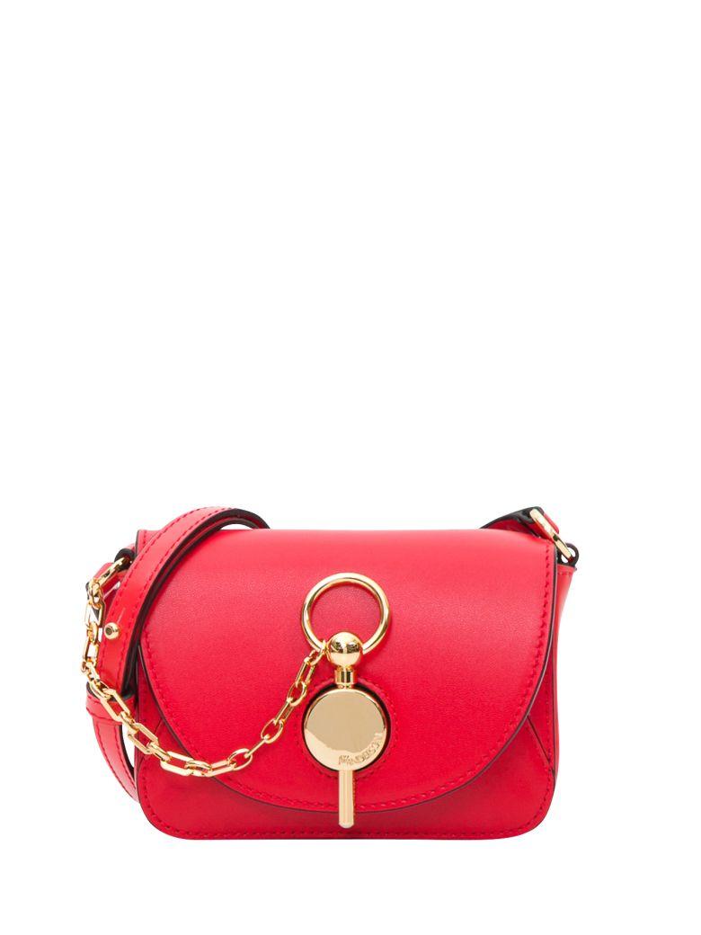 J.W. Anderson Keyts Nano Leather Shoulder Bag - Rosso