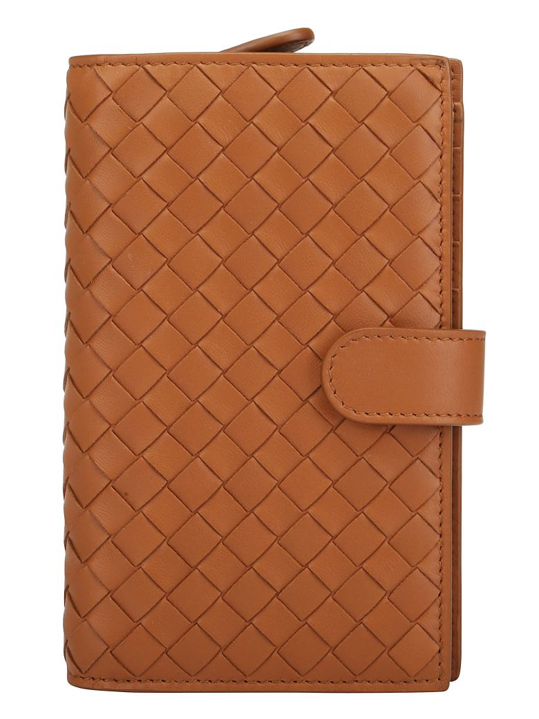 Bottega Veneta Crossbody Wallet - Wood