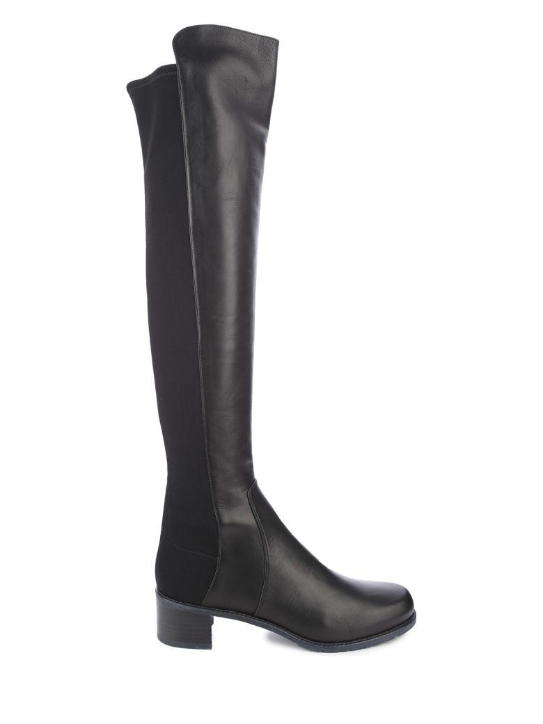 Stuart Weitzman Reserve Elastic-back Leather Boots - Nero