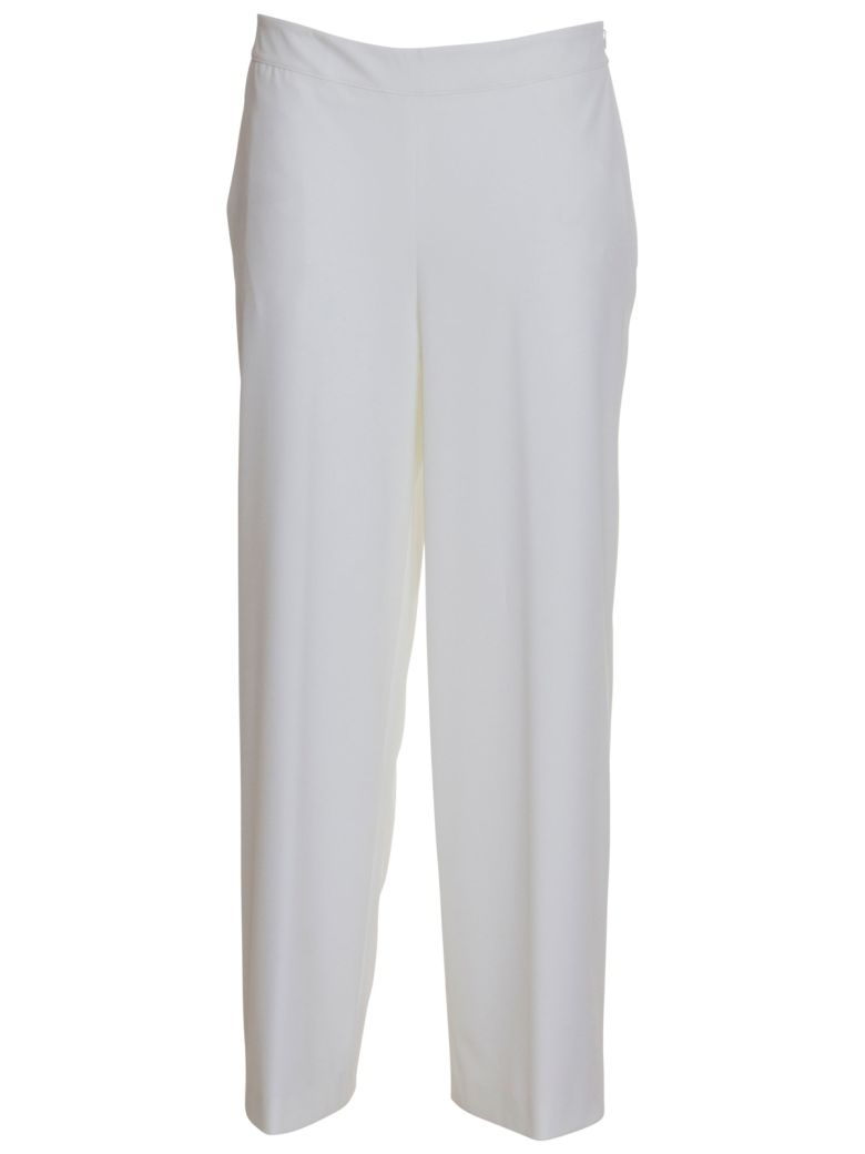 Stefano Mortari Cropped Palace Trousers In White - BIANCO