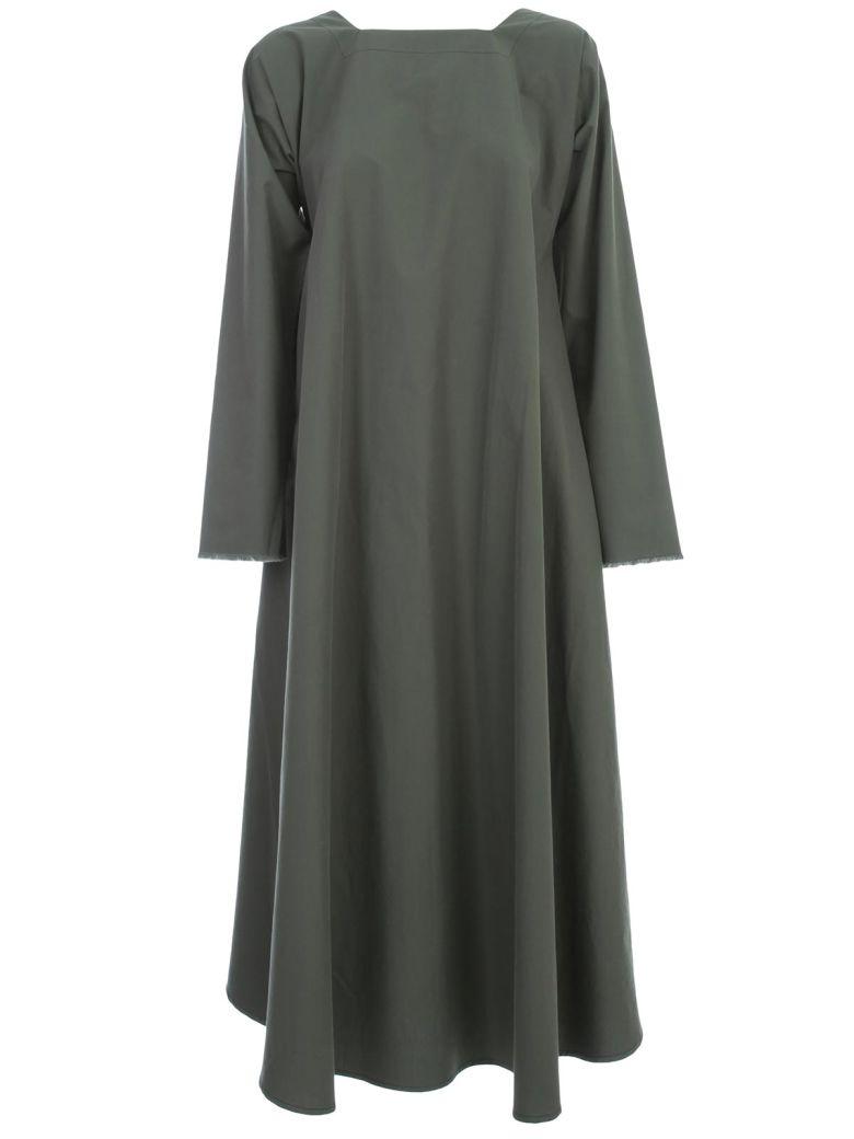 Daniela Gregis Olma Dress Square Neck - Dark Green