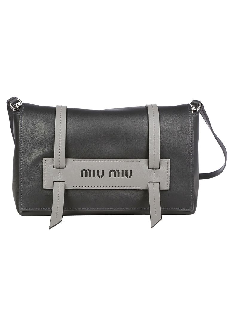 Miu Miu Miumiu Pattina Bag - Nero marmo