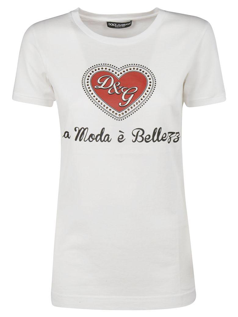 Dolce & Gabbana Moda é Bellezza T-shirt - white