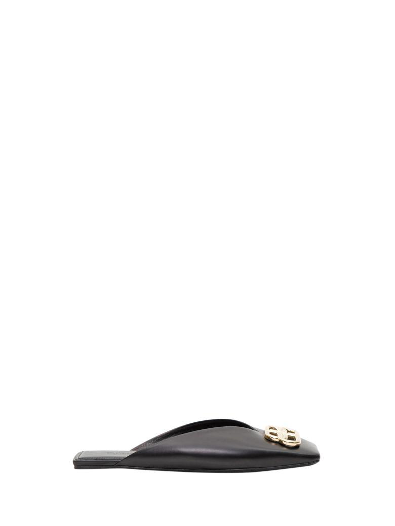 Balenciaga Bb Flate Mule - Black