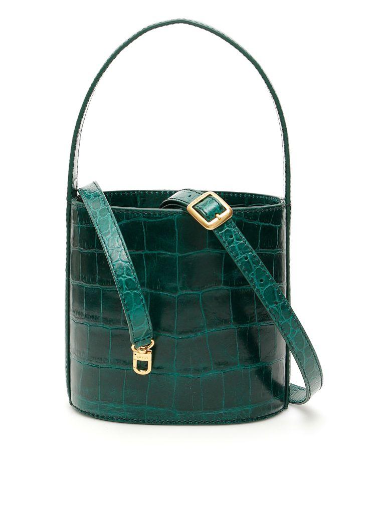 STAUD Croc-print Bissett Bucket Bag - Basic