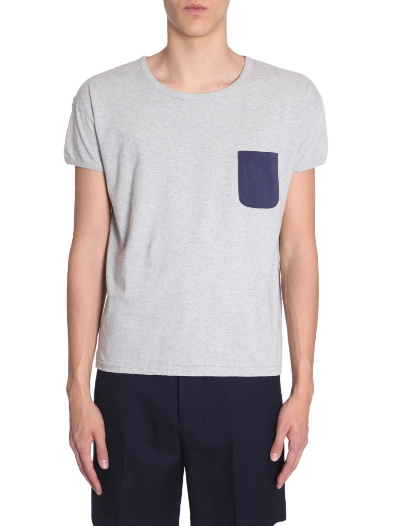Visvim T-shirt With Contrast Pocket - GRIGIO