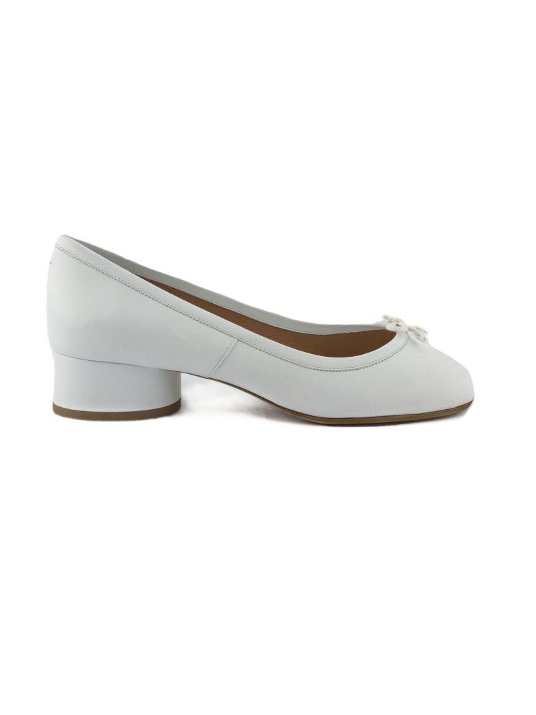 Maison Margiela Tabi White Leather Ballerina Pumps - Bianco