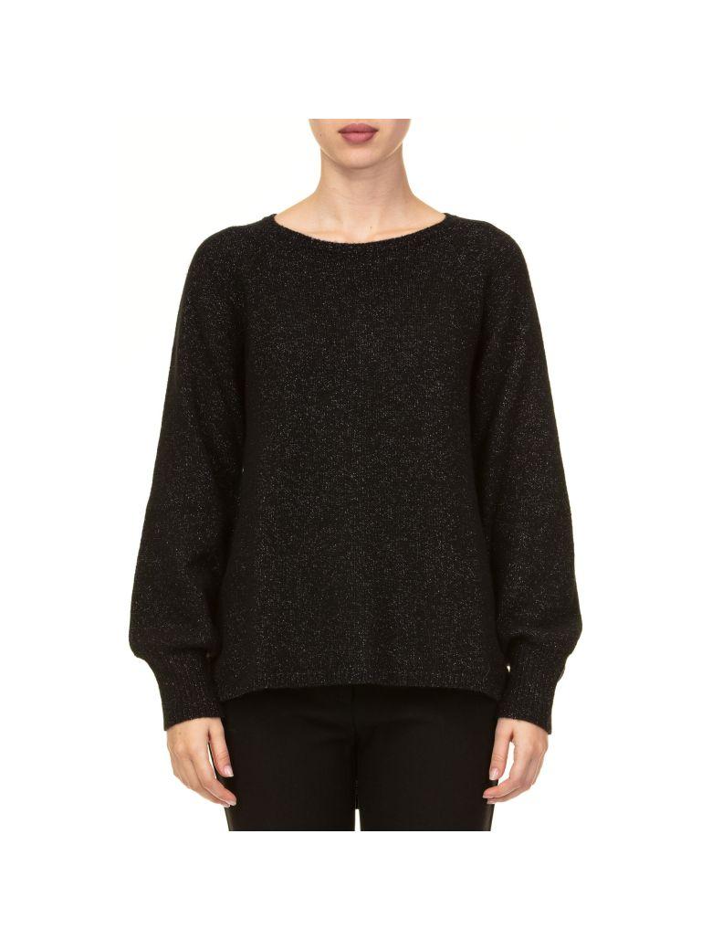 Kangra Kangra Wool Blend And Lurex Sweater - Black