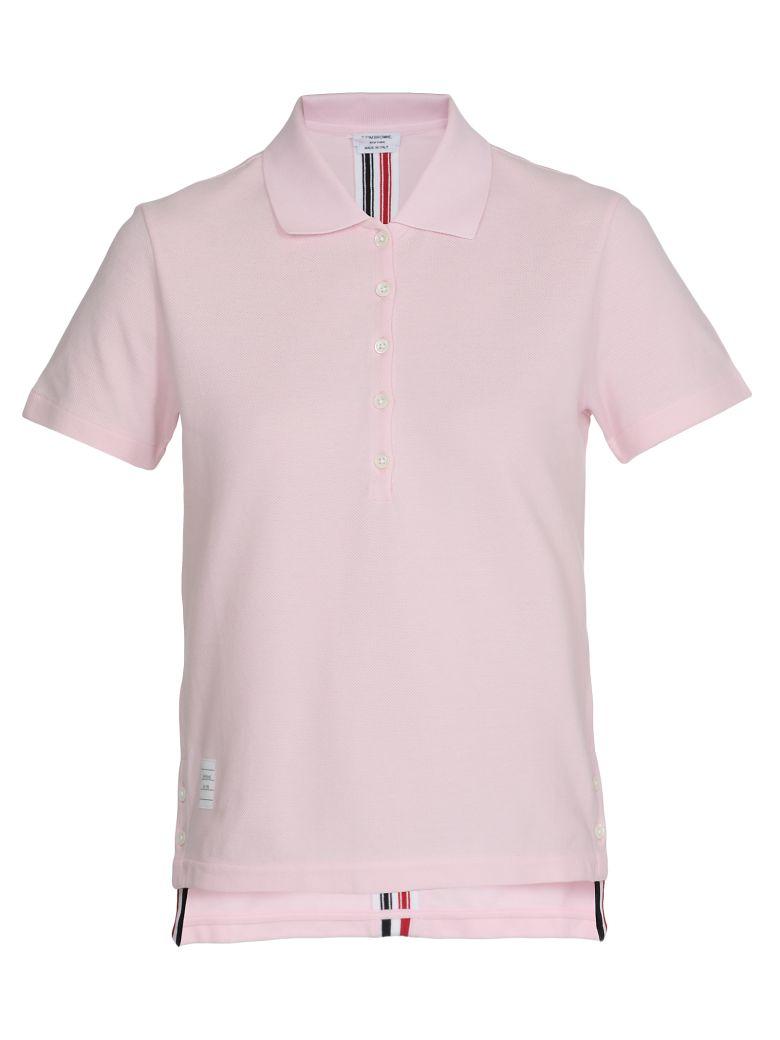 Thom Browne Cotton Polo Shirt - LT PINK