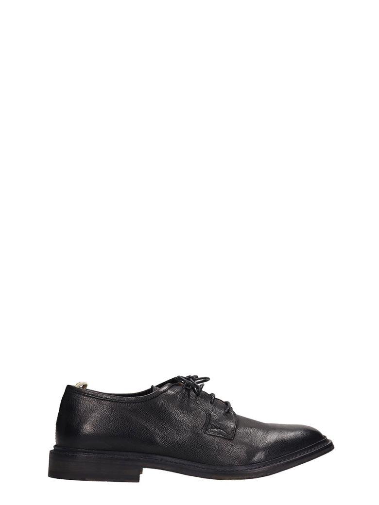 Officine Creative Black Leather Durham Laces Up Shoes - Black