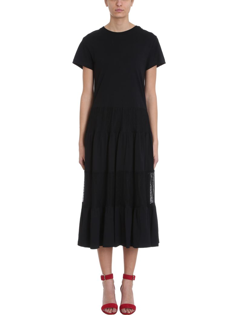 RED Valentino Black Jersey Long Dress - black