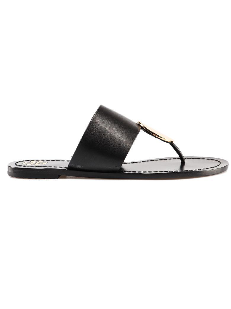Tory Burch Disc Thong Sandals - Black