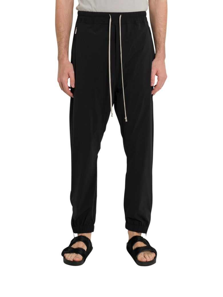 Rick Owens Drop Crotch Trousers - Nero