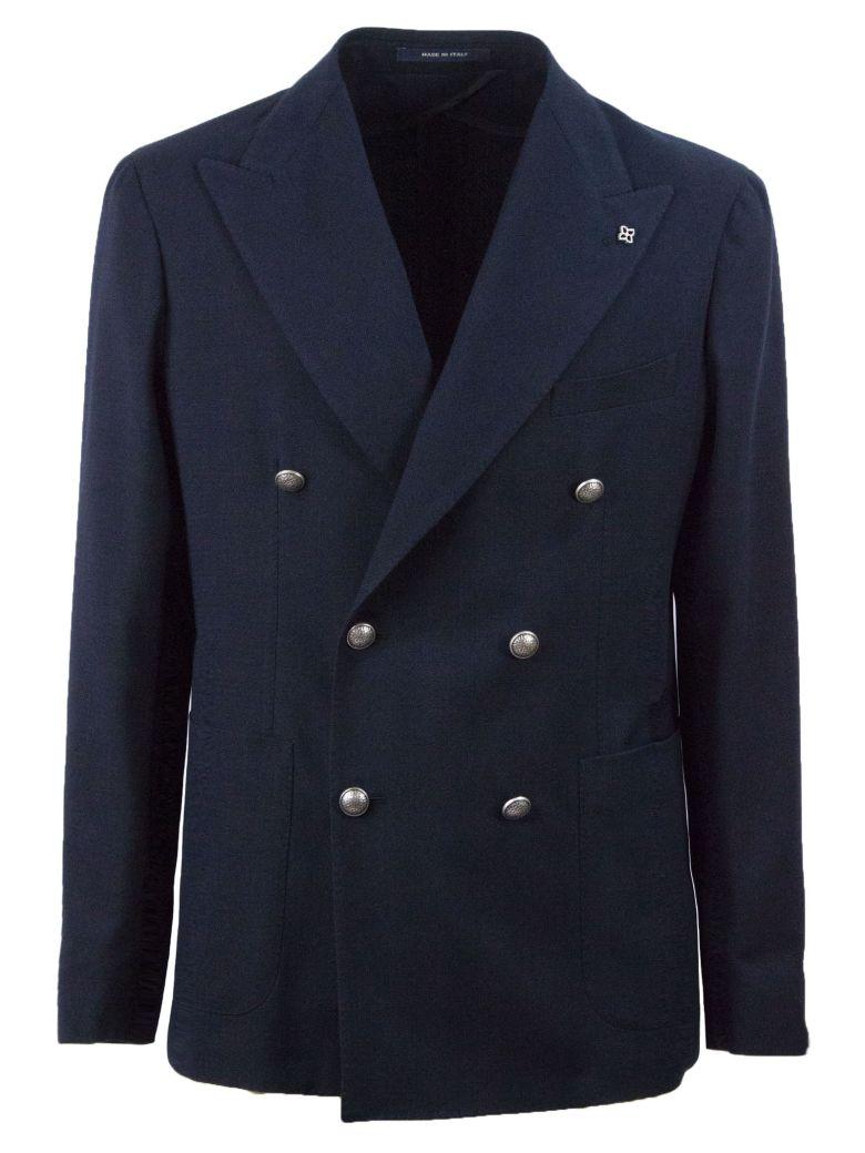 Tagliatore Blue Double-breasted Blazer - Blu