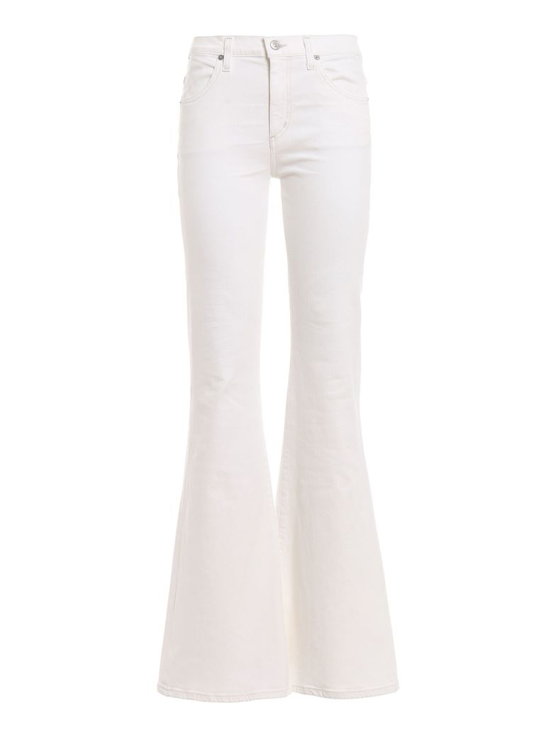Citizens of Humanity Chloé Flared Jeans - Sea Salt White