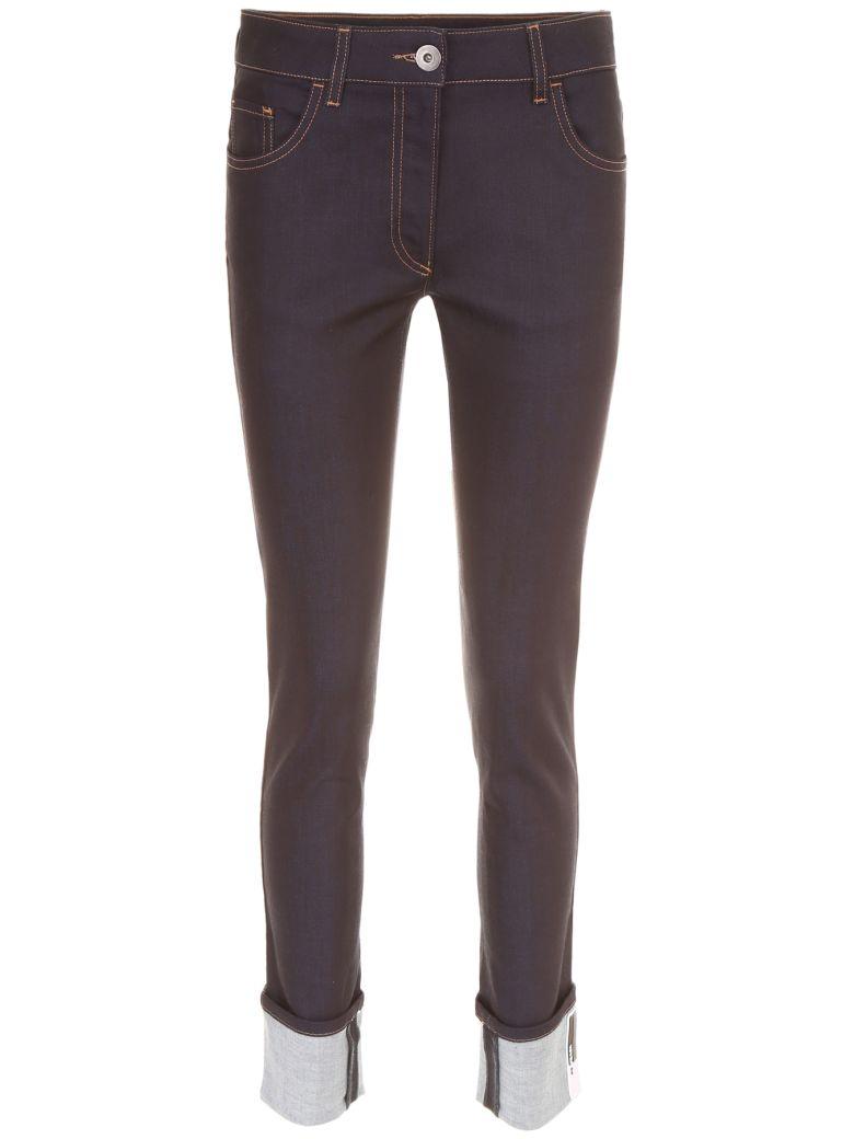 Prada Linea Rossa Deep Blue Denim Jeans - BLU Blu