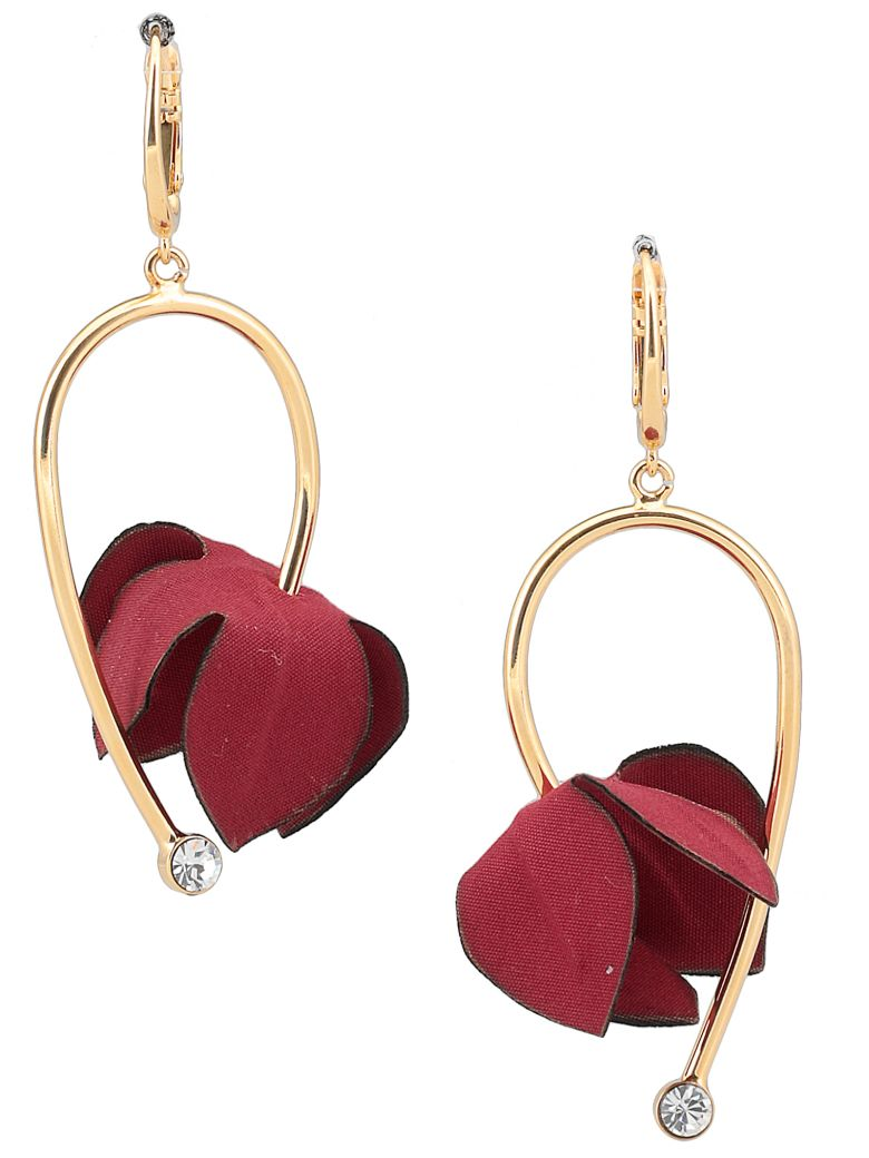 Marni Earrings With Flowers - RED