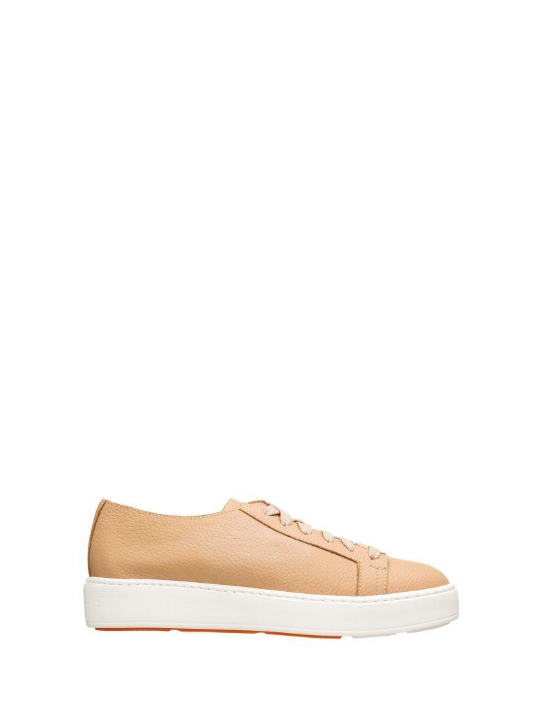 Santoni Santoni Beige Leather Sneakers - BEIGE