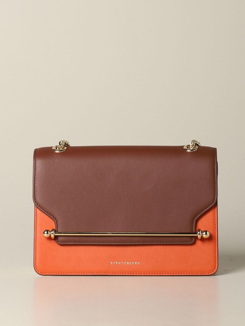 Strathberry Crossbody Bags East / West Strathberry Handbag In Tricolor Leather - brown