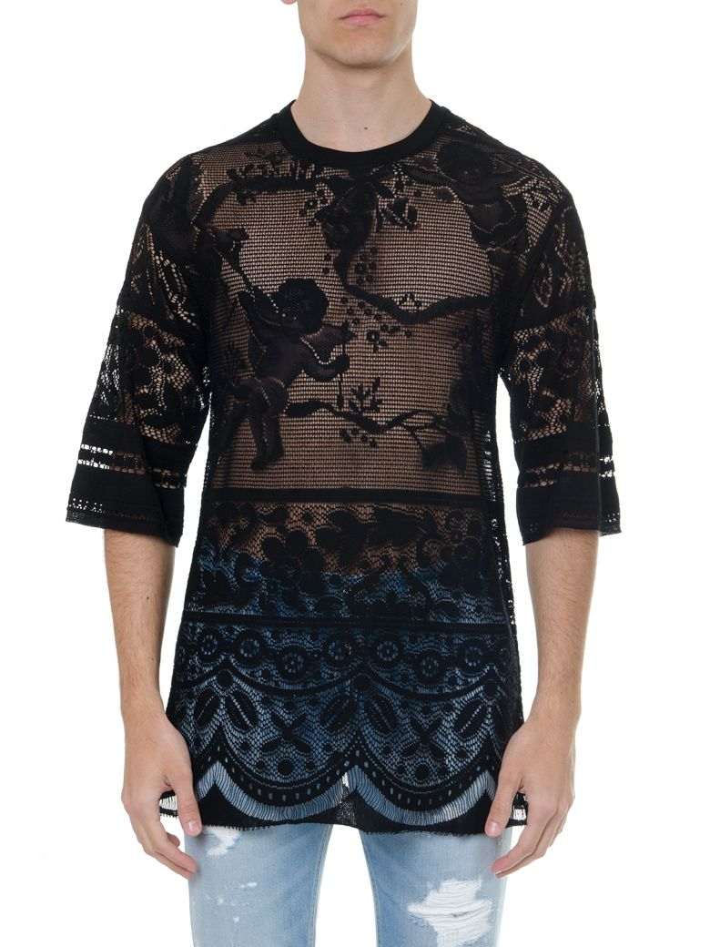 Dolce & Gabbana Black Cotton Embroidered T Shirt - Black