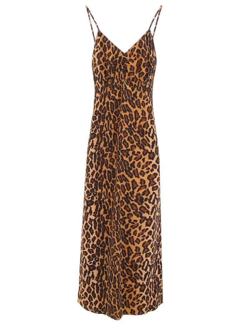 Miu Miu Leopard-printed Dress - KAKI|Beige