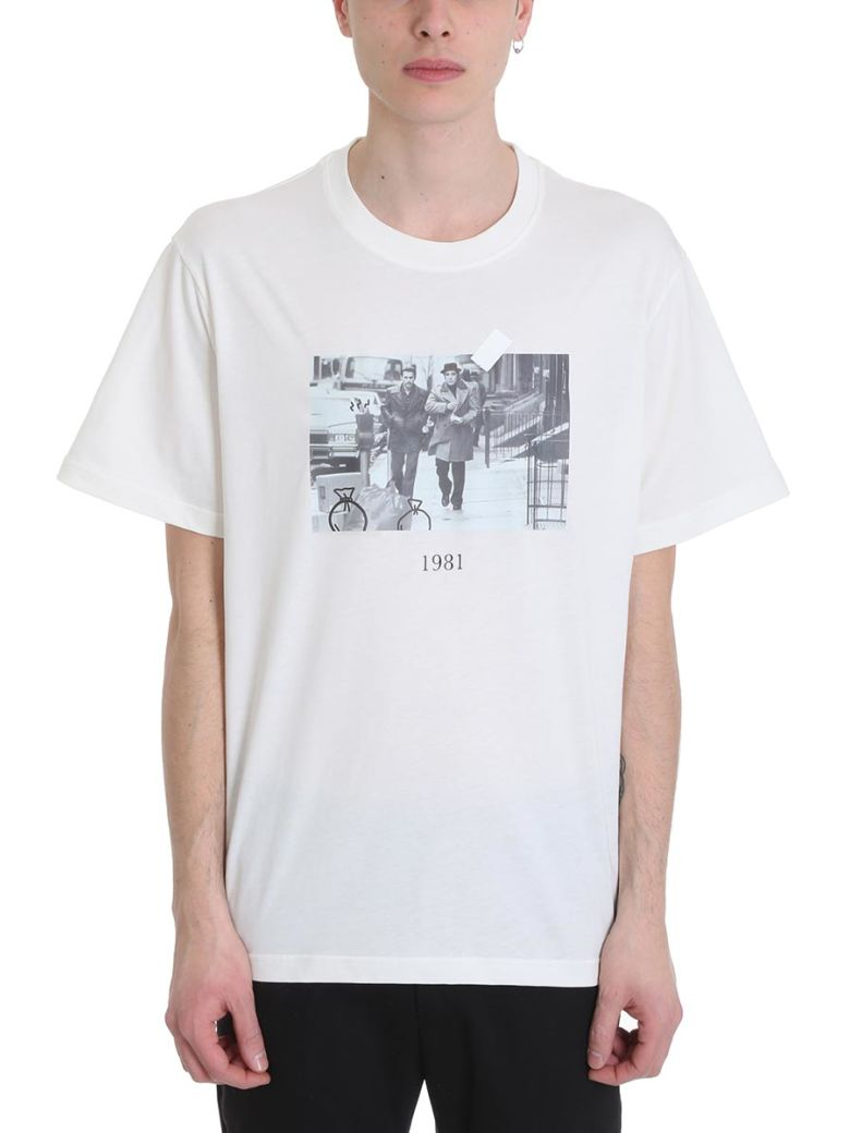 Throw Back Donnie White Cotton T-shirt - White