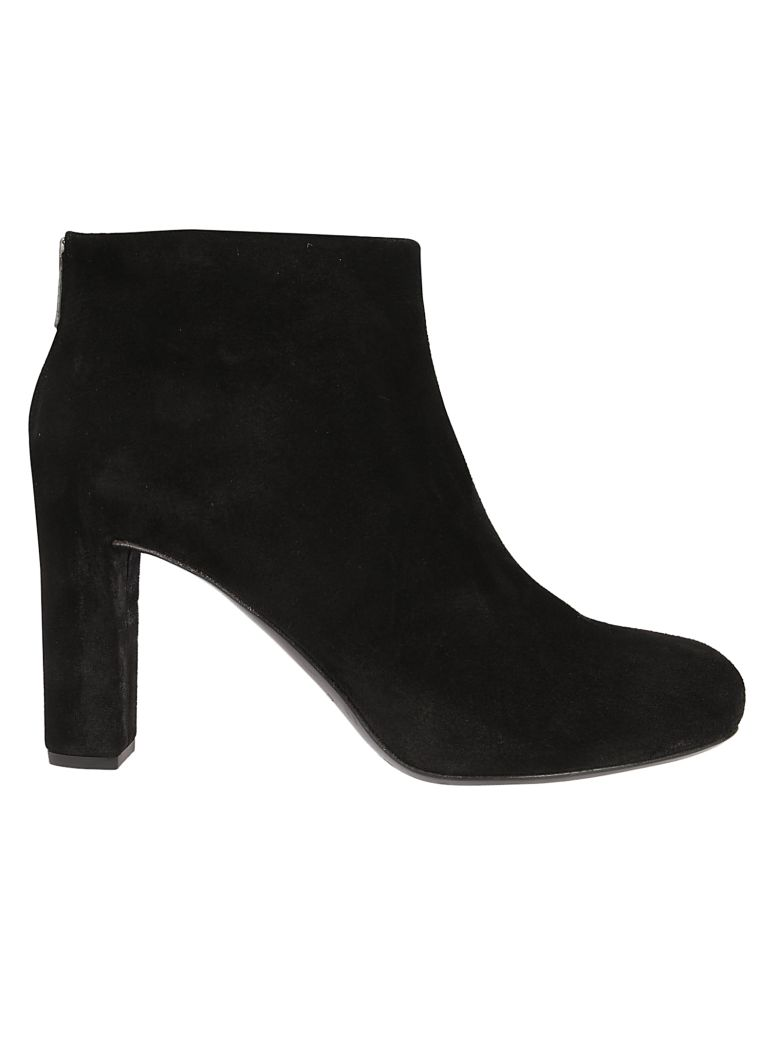 Roberto del Carlo Back Zipped Ankle Boots - Black