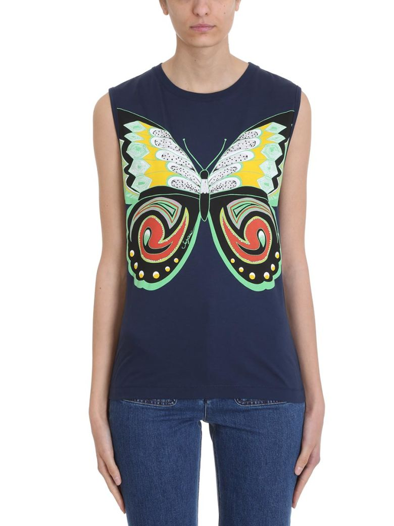 See by Chloé Butterfly Blue Top - blue