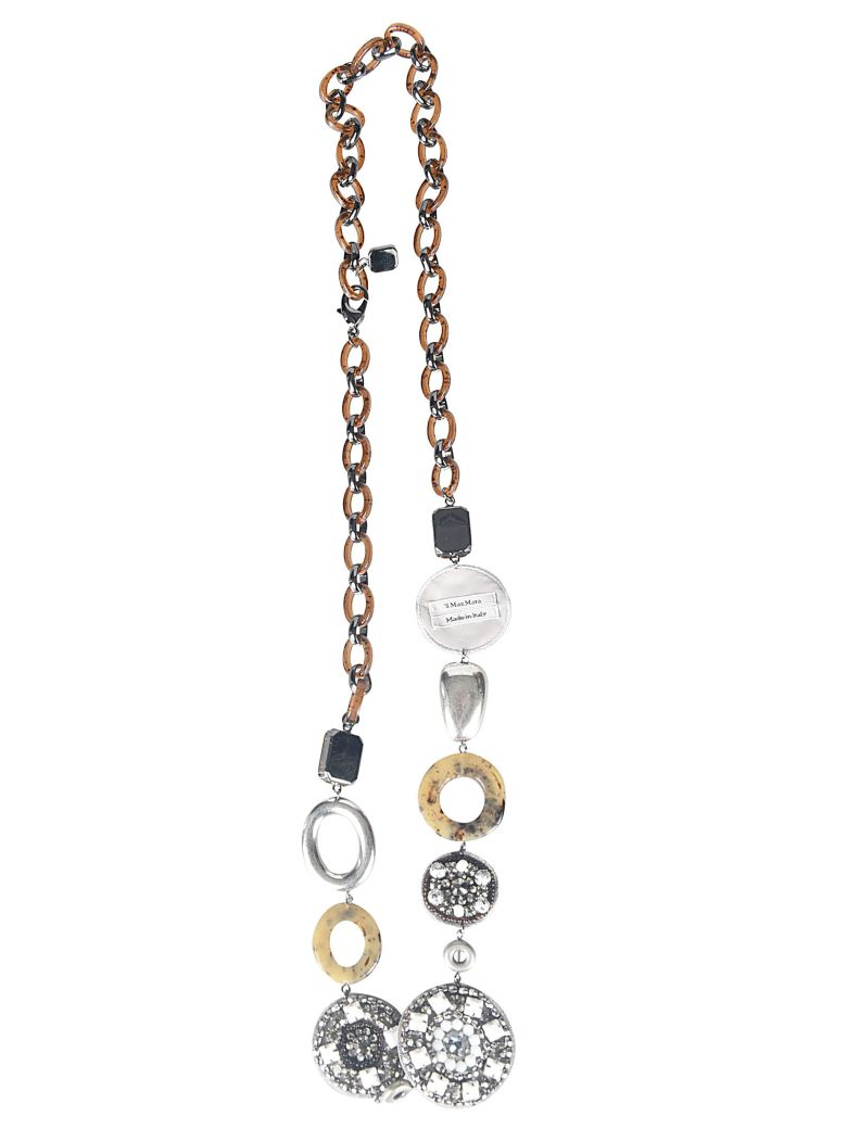 Max Mara The Cube Jewelry Embellished Necklace - Camel/Ecru