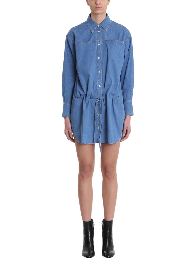 Sonia Rykiel Denim Shirt Dress - cyan