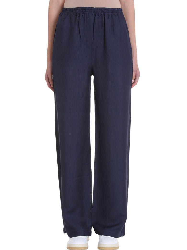 Acne Studios Parnelle Fluid Blue Viscose Trousers - blue