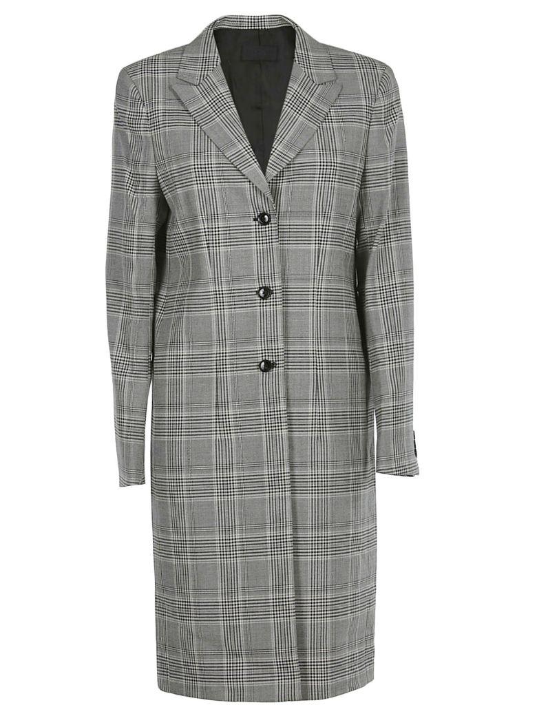 RTA Checked Coat - Gray