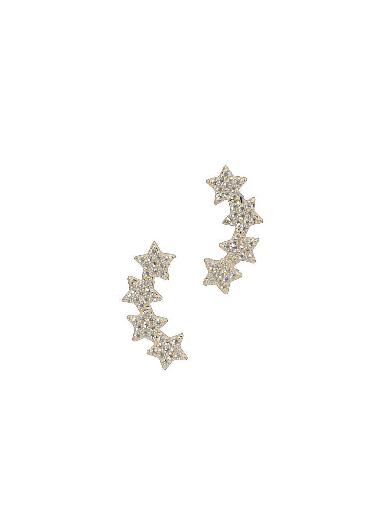 Federica Tosi Lobo Multi Stars Earings - GOLD PLATED CRISTAL STRASS