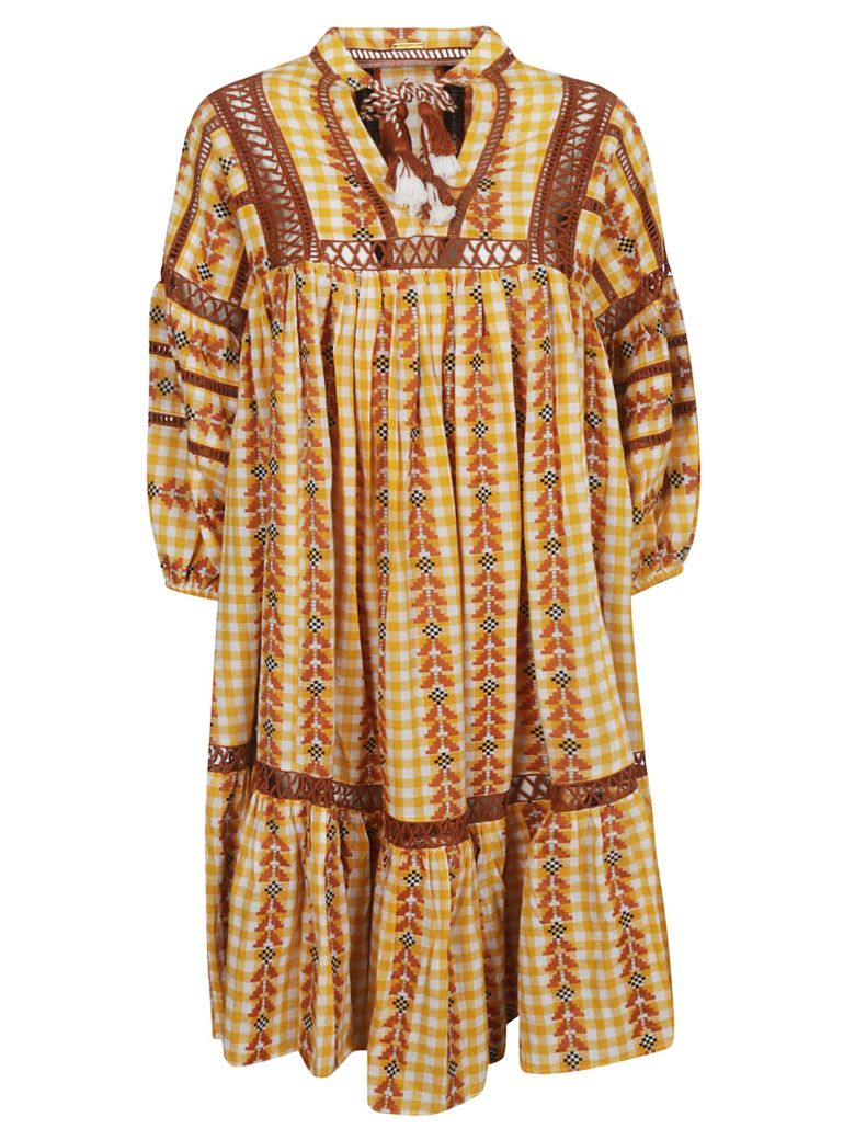 Dodo Bar Or Dodo Bar Or Elena Ethnic Flared Dress - Mustered