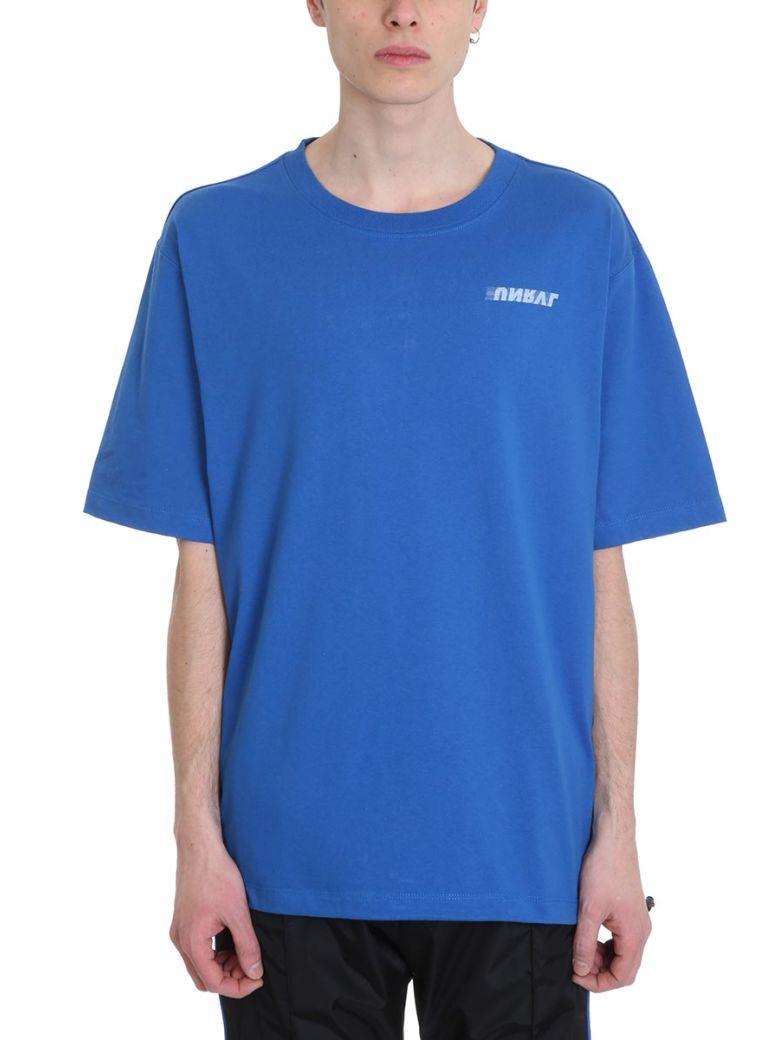 Ben Taverniti Unravel Project Motion Blue Cotton T-shirt - blue