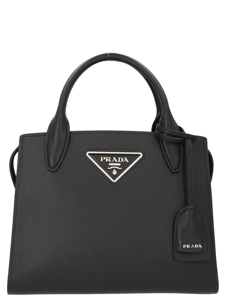 Prada 'monochrome' Midi Bag - Black