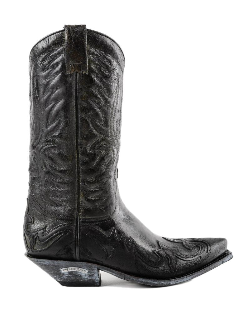 Sendra Texan Ankle Boots - Black