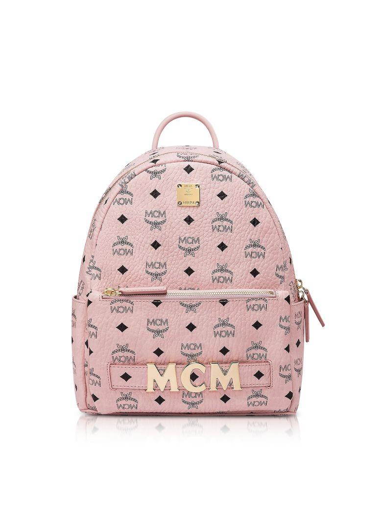 MCM Pink Visetos Trilogie Stark Backpack - Pink