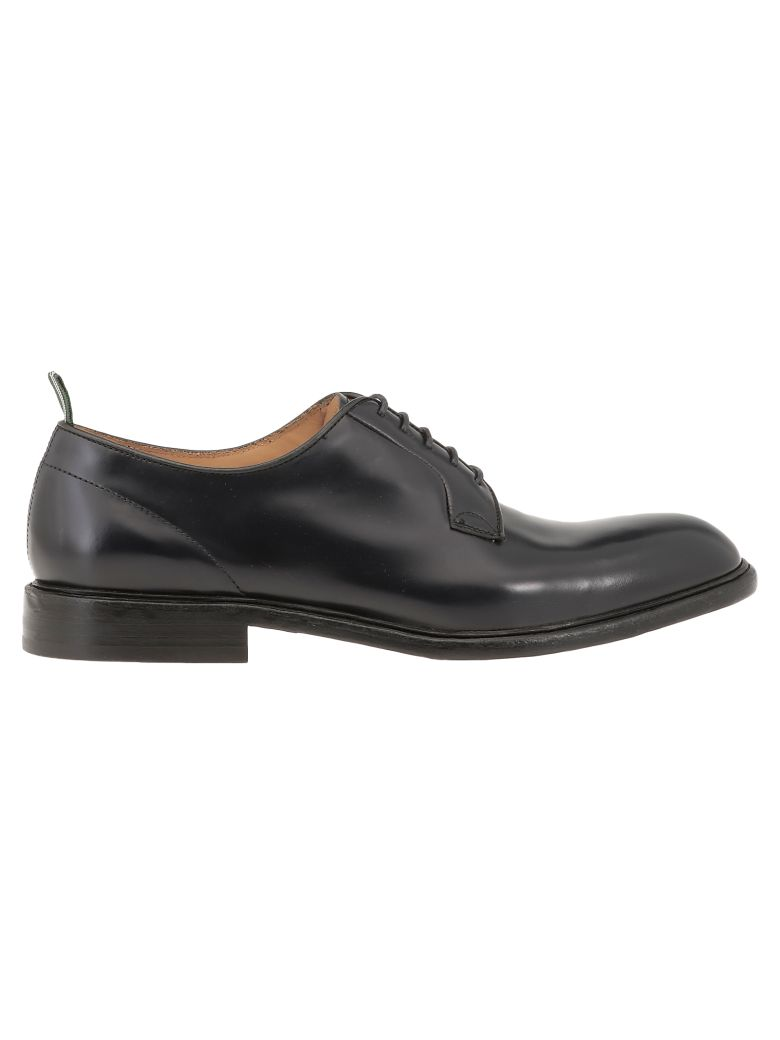 Green George Leather Lace-up Shoes - Blue