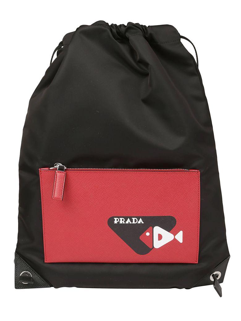 Prada Backpack - Nero+fuoco