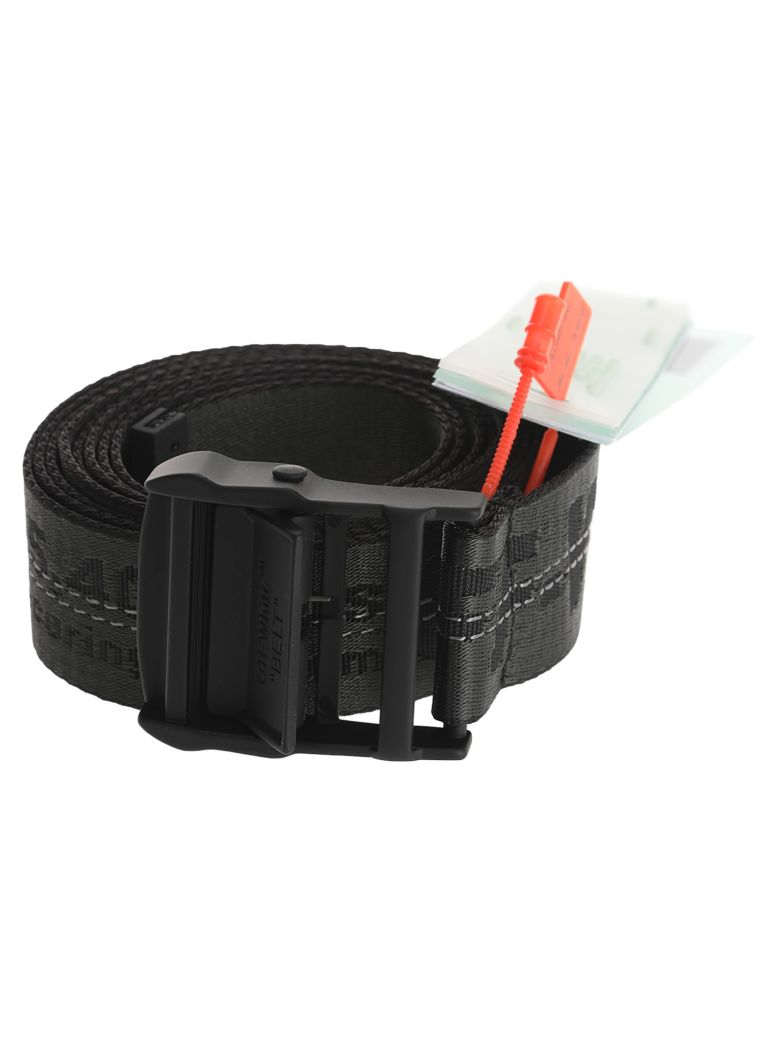 Off-White Off White Industrial Logo Belt - BLACK